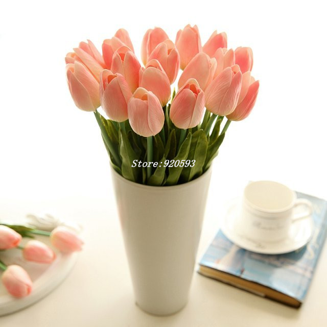 Mini tulip flower real touch artificial silk flowers mini tulip flower mightylinksfo