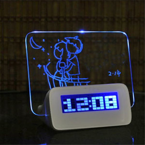Fluorescent Digital Alarm Clock