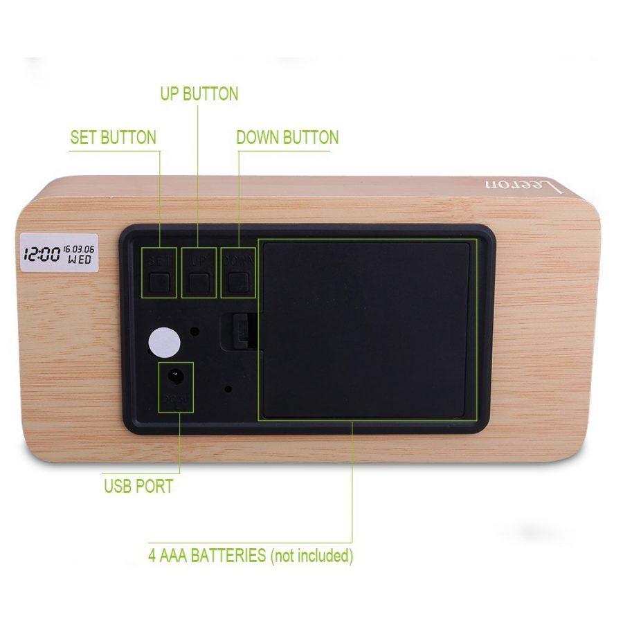 Cube Wooden Clock