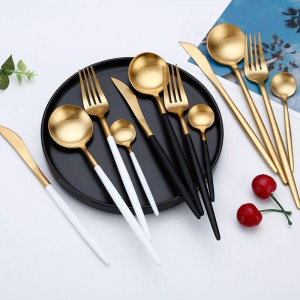 Dinner Set Cutlery Knives Forks Spoons