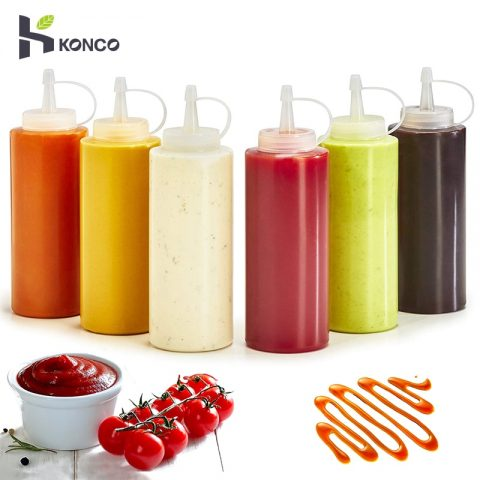 Squeeze Squirt Condiment Bottles