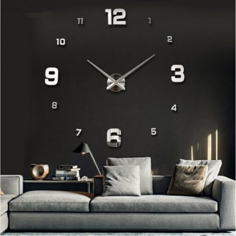 Large Wall Watch 3d Wall Clocks