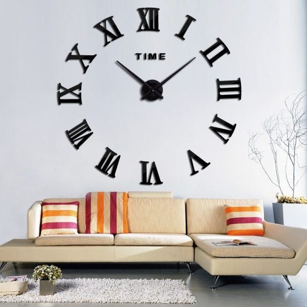 3d Big Acrylic Mirror Wall Clock