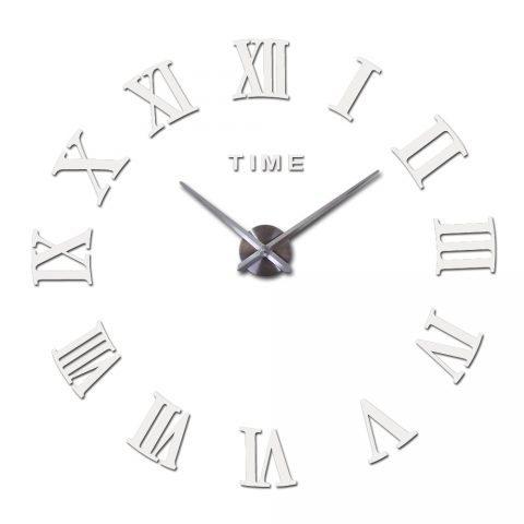 3d Big Acrylic Mirror Wall Clock