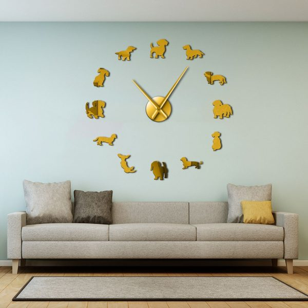 Dachshund Wall Art Dog Large Clock