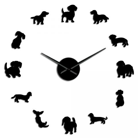 Dachshund Wall Art Dog Large Clock