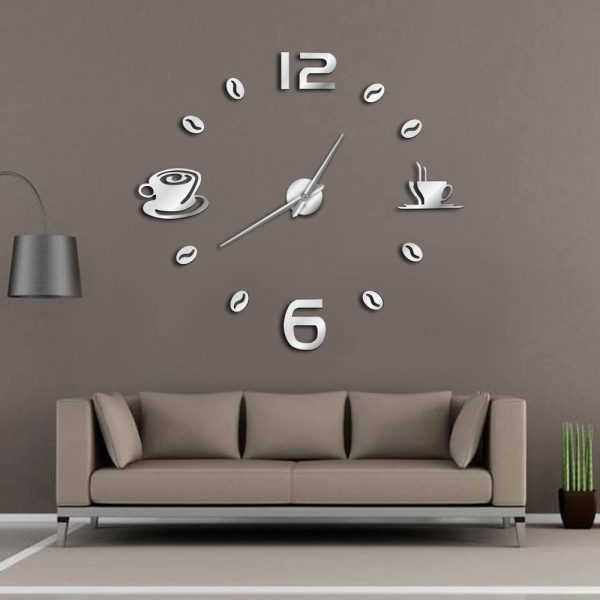 Giant Wall Clock Coffee Mug Bean