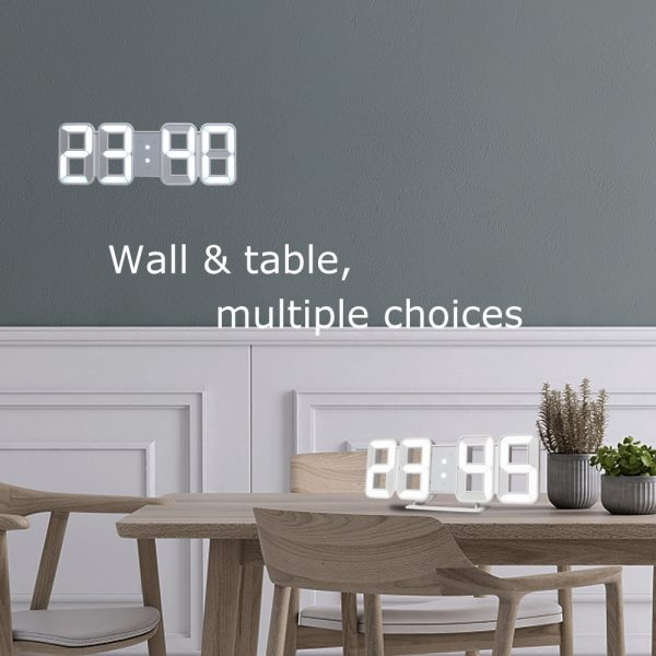 Digital Wall Clock 3D LED Alarm