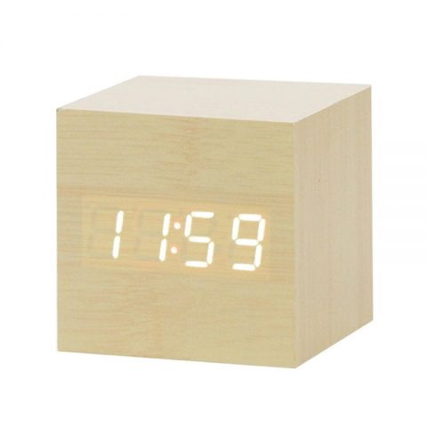 Wooden Alarm Clock Voice Control