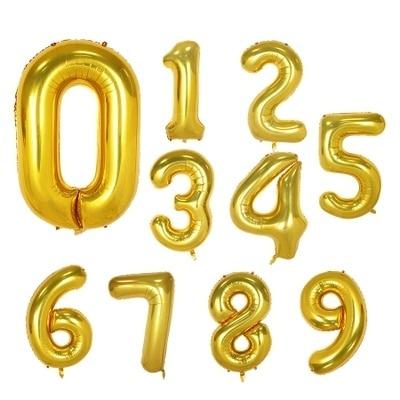 Aluminium Foil Number Balloons
