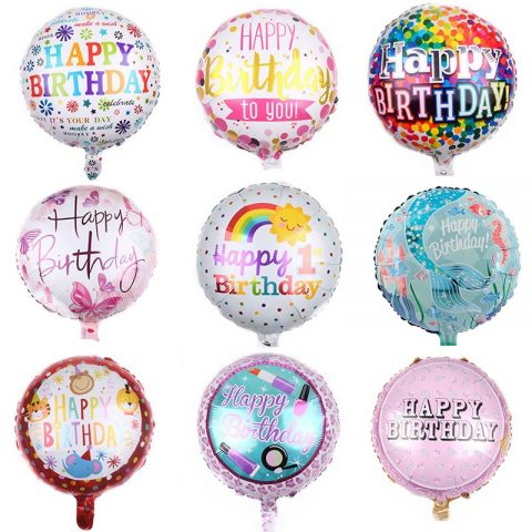 Round Foil Balloon Happy Birthday