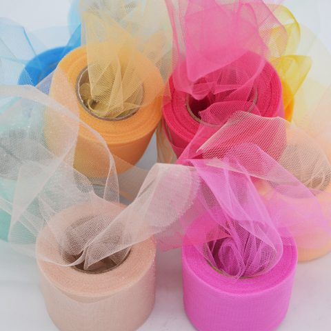 Shiny Crystal Tulle Roll Organza Sheer