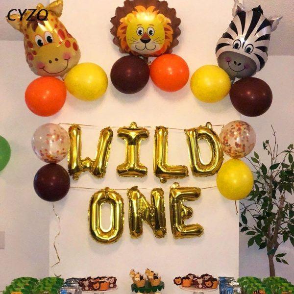 Birthday Jungle Party Animal Balloons