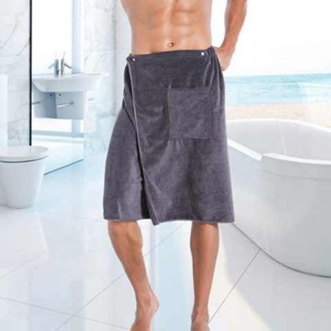 Man Wearable Magic Bath Towel