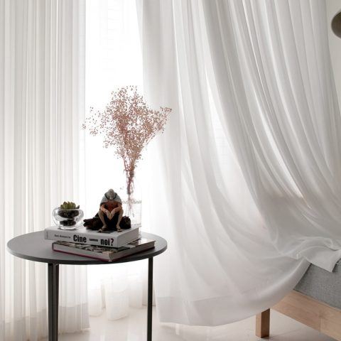 White Tulle Curtains Kitchen Curtain
