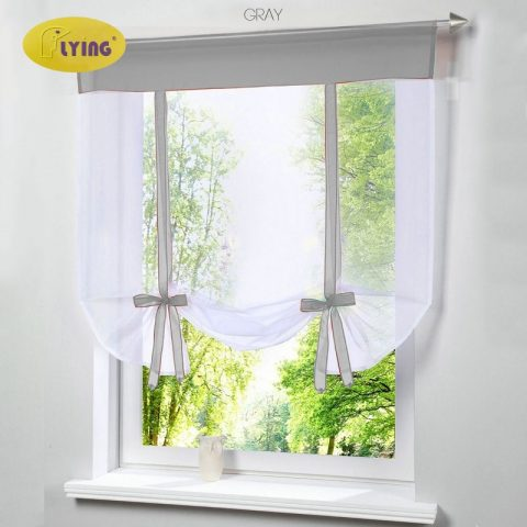 Tulle Kitchen Bay Screen Curtains