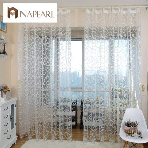 Floral Design Window Curtain