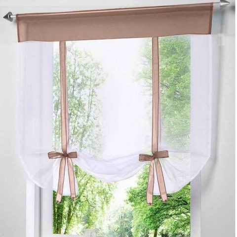 Kitchen Tulle Voile Curtain
