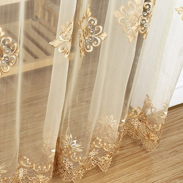Embroidered Sheer Voile Curtains