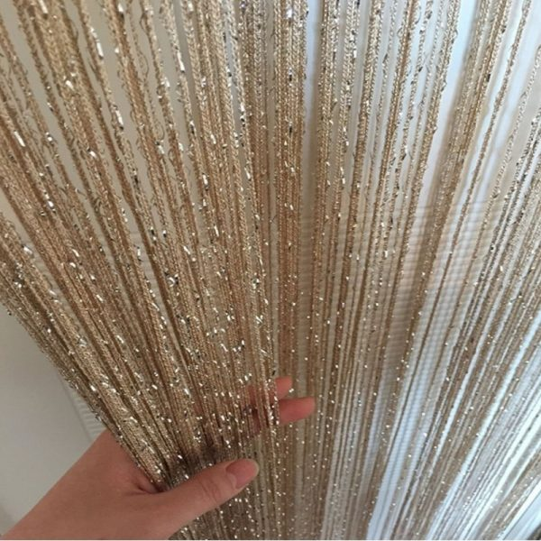 Line String Curtain Living Room