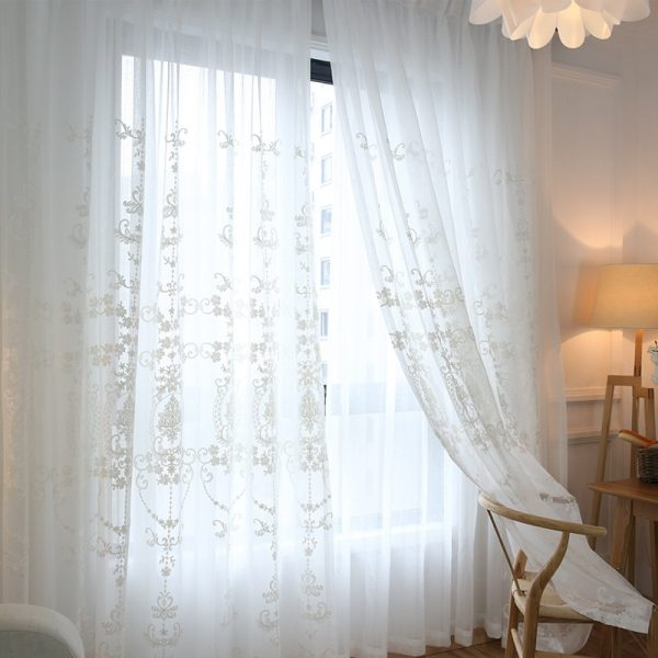 Embroidery Flower Screens Curtain