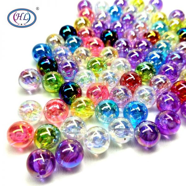 AB Acrylic Loose Beads Lots Colors