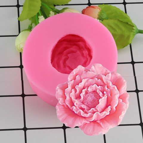 3D Peony Shape Silicone Fondant Molds