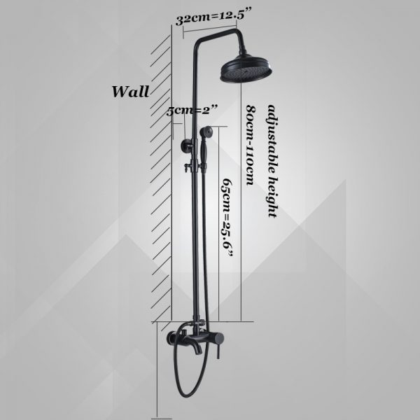 Bathroom Shower Faucet ORB Brass