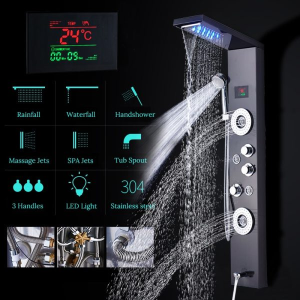 Bathroom Shower Faucet LED Shower