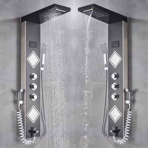 Luxury Brushed Nickle Bathroom Shower