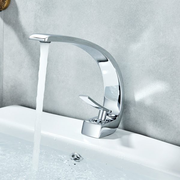 Chrome Basin Faucets Modern Mixer Tap