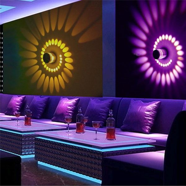 3w RGB Indoor Led Wall Lamp