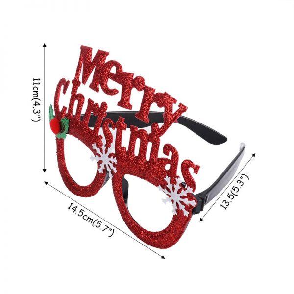 Christmas Decoration Glasses Frame